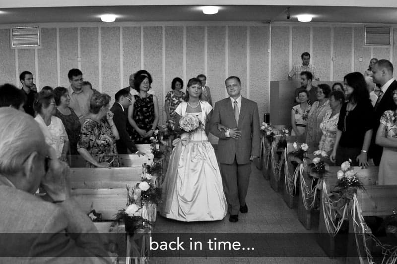 wedding paparazzi back in time