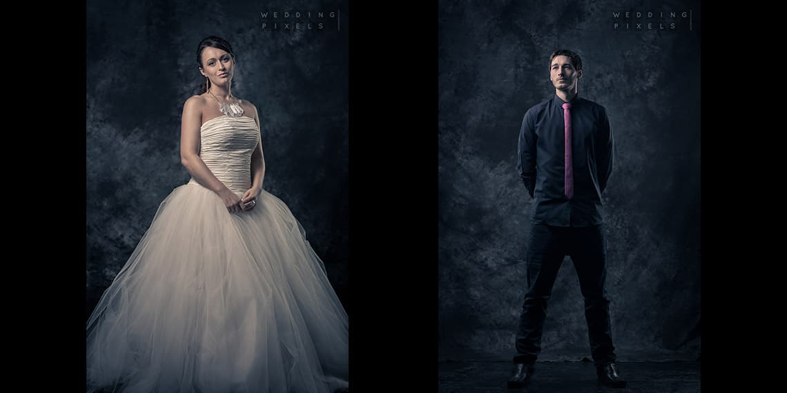 Studio shots - bad weather alternative. Wedding photographer located in Bristol